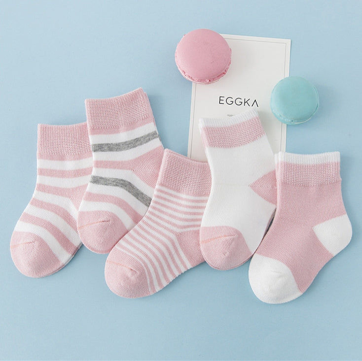 100%Cotton Breathable Baby Socks-PK of 3