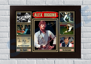 Alex Hurricane Higgins (Snooker) #13 - Signed print