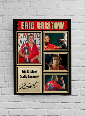 Eric Bristow The crafty cockney (Darts) #6 - Signed print