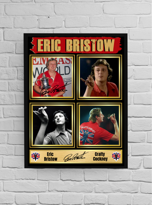 Eric Bristow The crafty cockney (Darts) #5 - Signed print