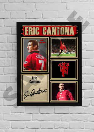 'King' Eric Cantona (Man Utd) #40 - Signed print
