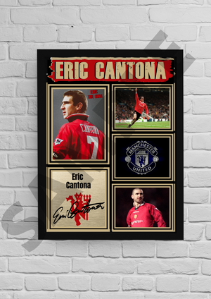 Exclusive Eric Cantona Manchester United signed poster 2