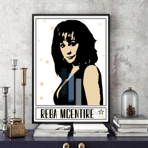 Reba McEntire / Country music legend - Pop Art - Collectable/Memorabilia/Gift/Print