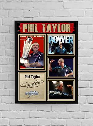 Phil 'The Power' Taylor (Darts) #7 - Signed print