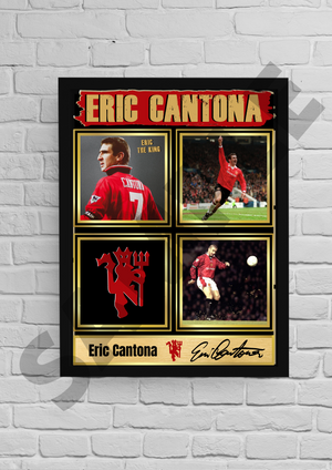 'King' Eric Cantona (Man Utd) #42 - Signed print