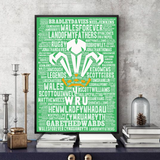 Wales Welsh Rugby Legends 2 - Word Art Collectable/Keepsake/Gift