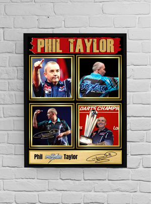 Phil 'The Power' Taylor (Darts) #8 - Signed print