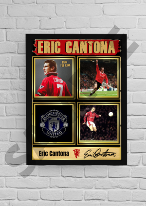 'King' Eric Cantona (Man Utd) #43 - Signed print
