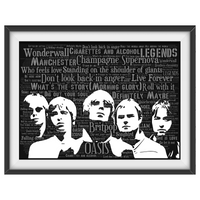 Oasis v3 - Word Art Portrait / Collectable/Memorabilia/Gift/Print