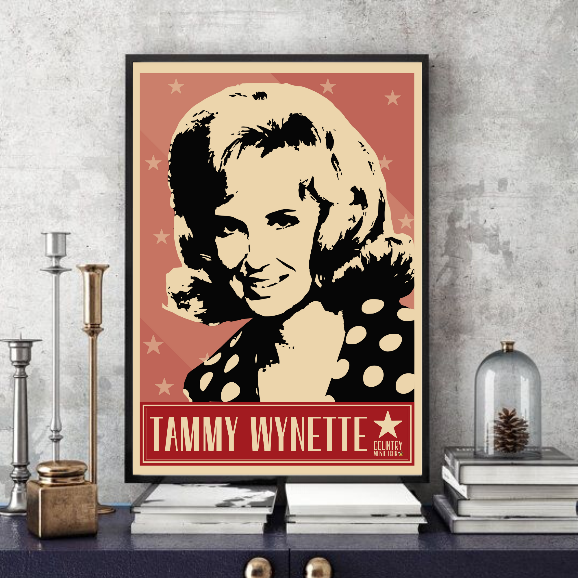 Tammy Wynette / Country music legend - Pop Art - Collectable/Memorabilia/Gift/Print