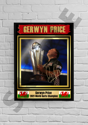 Gerwyn Price (Darts) #4 - Signed print