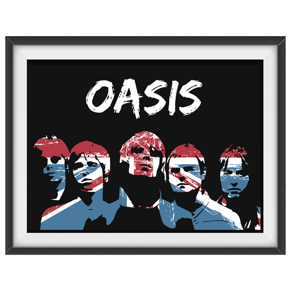 Oasis v4 - Pop Art / Collectable/Memorabilia/Gift/Print