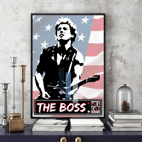 Bruce Springsteen - The Boss/Rock Icon/Legend - Collectable/Memorabilia/Gift/Print - Pop Art