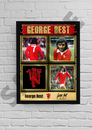 George Best (Man Utd) #46 - Signed print