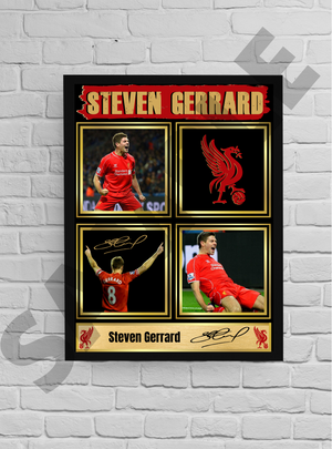 Stevie G (Liverpool) #34 - Signed print
