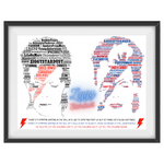 Load image into Gallery viewer, David Bowie/Ziggy Stardust Portrait in songs & Lyrics Print