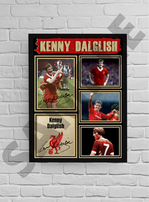 'King' Kenny Dalglish (Liverpool) #35 - Signed print