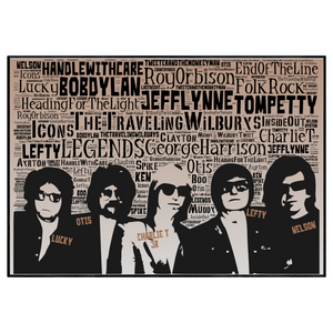 Traveling Wilbury's tribute - Word Art Portrait / Collectable/Memorabilia/Gift/Print