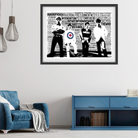 The Who tribute / Typography - Collectable/Memorabilia/Gift/Print - Pop Art