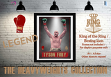 "Tyson Fury ""The Gypsy King"" - King of the Ring - Heavyweight Icon / Boxing Icon - Poster / Print"