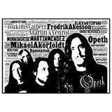 Opeth tribute / Typography - Collectable/Memorabilia/Gift/Print - Pop Art