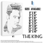 Load image into Gallery viewer, Elvis Presley The King v1 / Portrait in songs - Premium Canvas