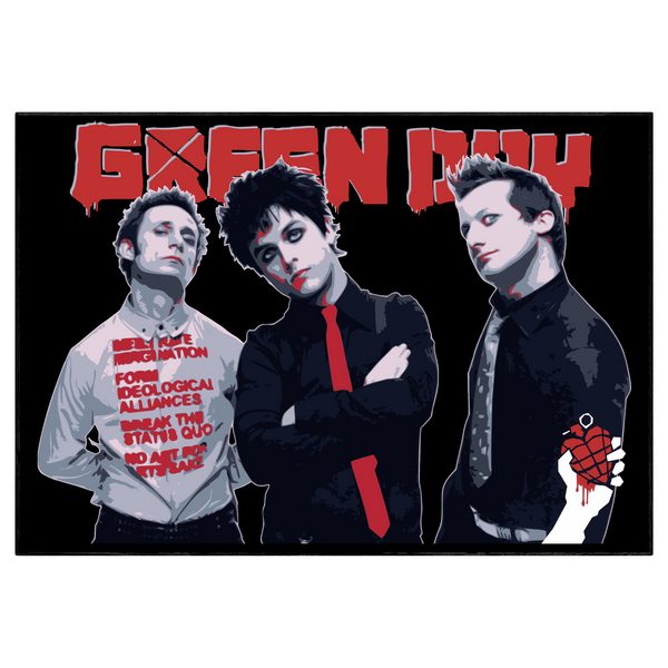 Green day tribute / Typography Portrait - Collectable/Memorabilia/Gift/Print - Pop Art