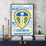 Load image into Gallery viewer, Leeds United Season 2020 Premier League Squad LUFC - Word Art Collectable/Keepsake/Gift