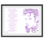 Load image into Gallery viewer, Prince Purple Rain Lyrics tribute - Word Art Portrait - Unique Keepsake/Collectable/Memorabilia/Gift/Print