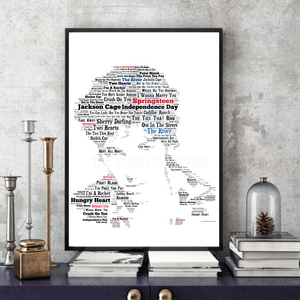 Bruce Springsteen/The Boss v3 The River - Portrait in songs print