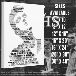 Morrissey / The Smiths - Portrait in songs - Premium Canvas