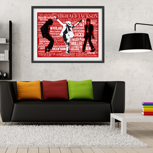 Michael Jackson - King of Pop - Collectable/Memorabilia/Gift/Print - Pop Art