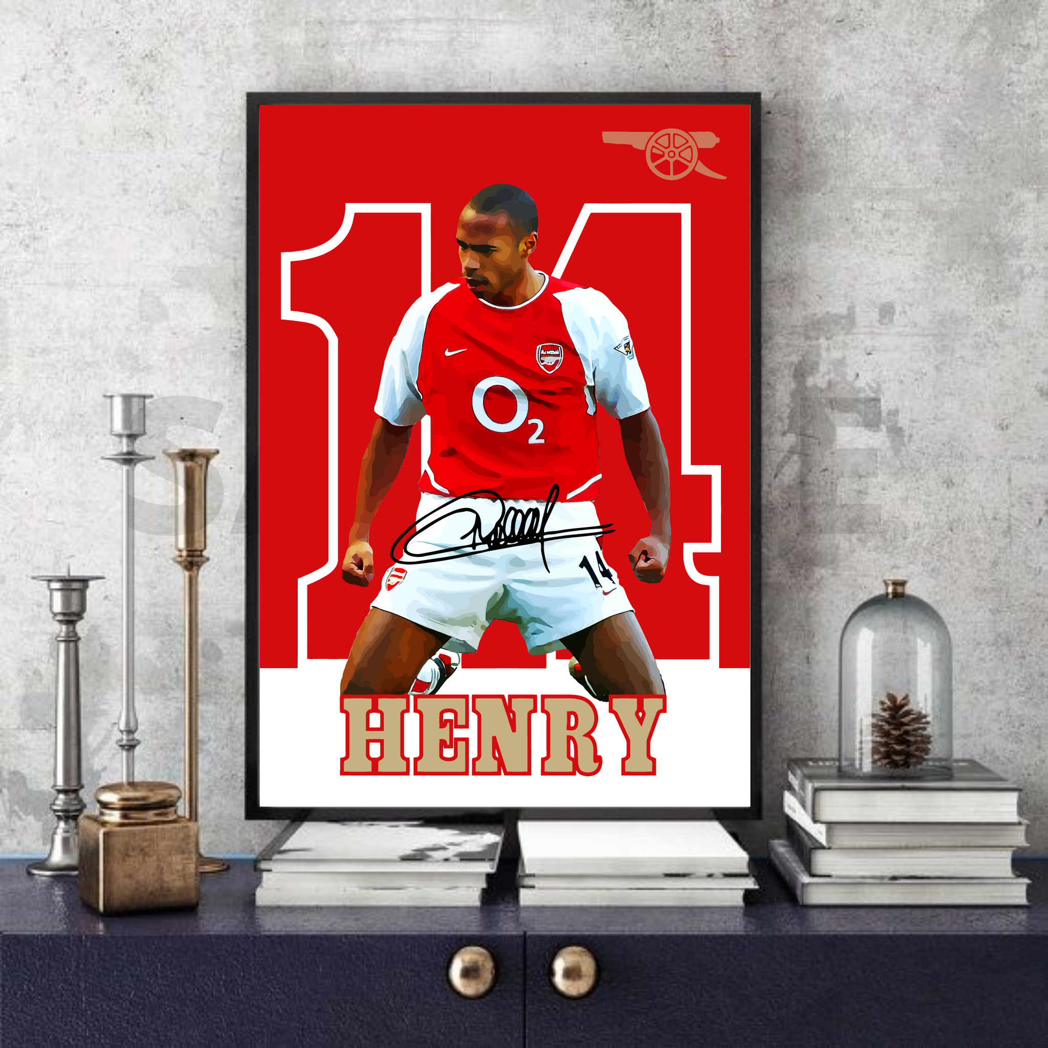 Thierry Henry (Arsenal) #71 - Signed print