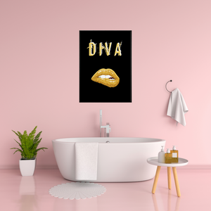 Diva (3.0)  -  Typographic Wall Art