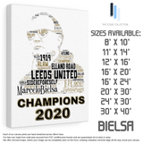 Marcelo Bielsa Leeds United 2020 Champions - Premium Canvas Keepsake/Collectable/Memorabilia/Gift