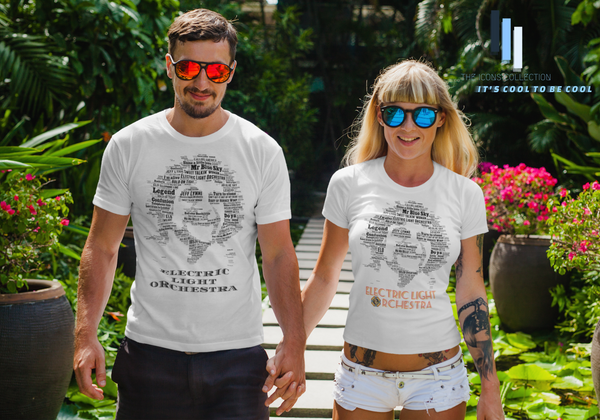 Jeff Lynne ELO tribute in songs / Premium Quality Supersoft T Shirt / Cool music tees