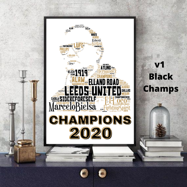 Marcelo Bielsa - Leeds United 2020 CHAMPIONS LUFC - Word Art Collectable/Keepsake/Gift/Memorabilia