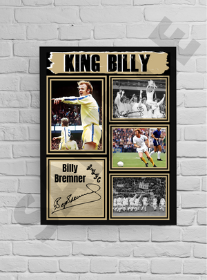 'King' Billy Bremner (LUFC) #24 - Signed print