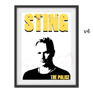 Sting / The Police - Word Art Portrait - Unique Keepsake/Collectable/Memorabilia/Gift/Typography/Print