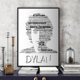 Bob Dylan 2 - Word Art Portrait - Unique Keepsake/Collectable/Memorabilia/Gift/Print