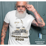 Load image into Gallery viewer, Marcelo Bielsa LEEDS UNITED 2020 CHAMPIONS - Premium T Shirt (100% Supersoft Cotton)
