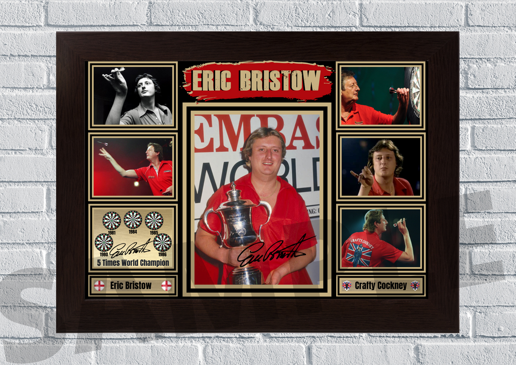 Eric Bristow The crafty cockney (Darts) #82 - Signed print