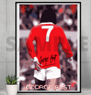 George Best (Man Utd) - Pop Art