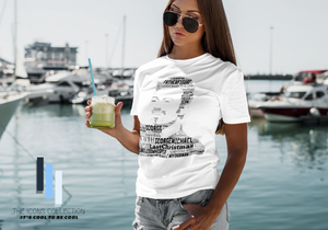 George Michael tribute in 'songs' - Premium T Shirt (100% Supersoft Cotton)