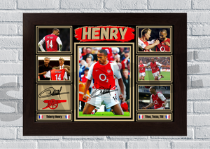 Thierry Henry (Arsenal) #72 - Signed print