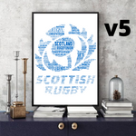 Load image into Gallery viewer, SCOTLAND RUGBY Legends (Multi options) - Word Art Collectable/Gift/Memorabilia