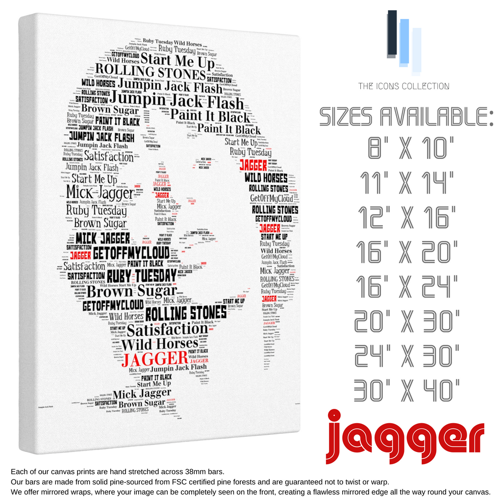 Mick Jagger / Rolling Stones - Portrait in songs - Premium Canvas