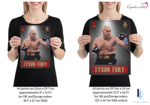 "Tyson Fury 2 ""The Gypsy King"" - King of the Ring - Heavyweight Icon / Boxing Icon - Poster / Print"