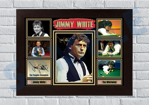 Jimmy 'Whirlwind' White (Snooker) #19 - Signed print