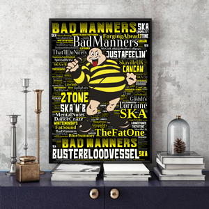 Bad Manners - Word Art Print